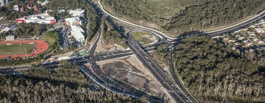 Smith Street Motorway and Olsen Avenue Interchange