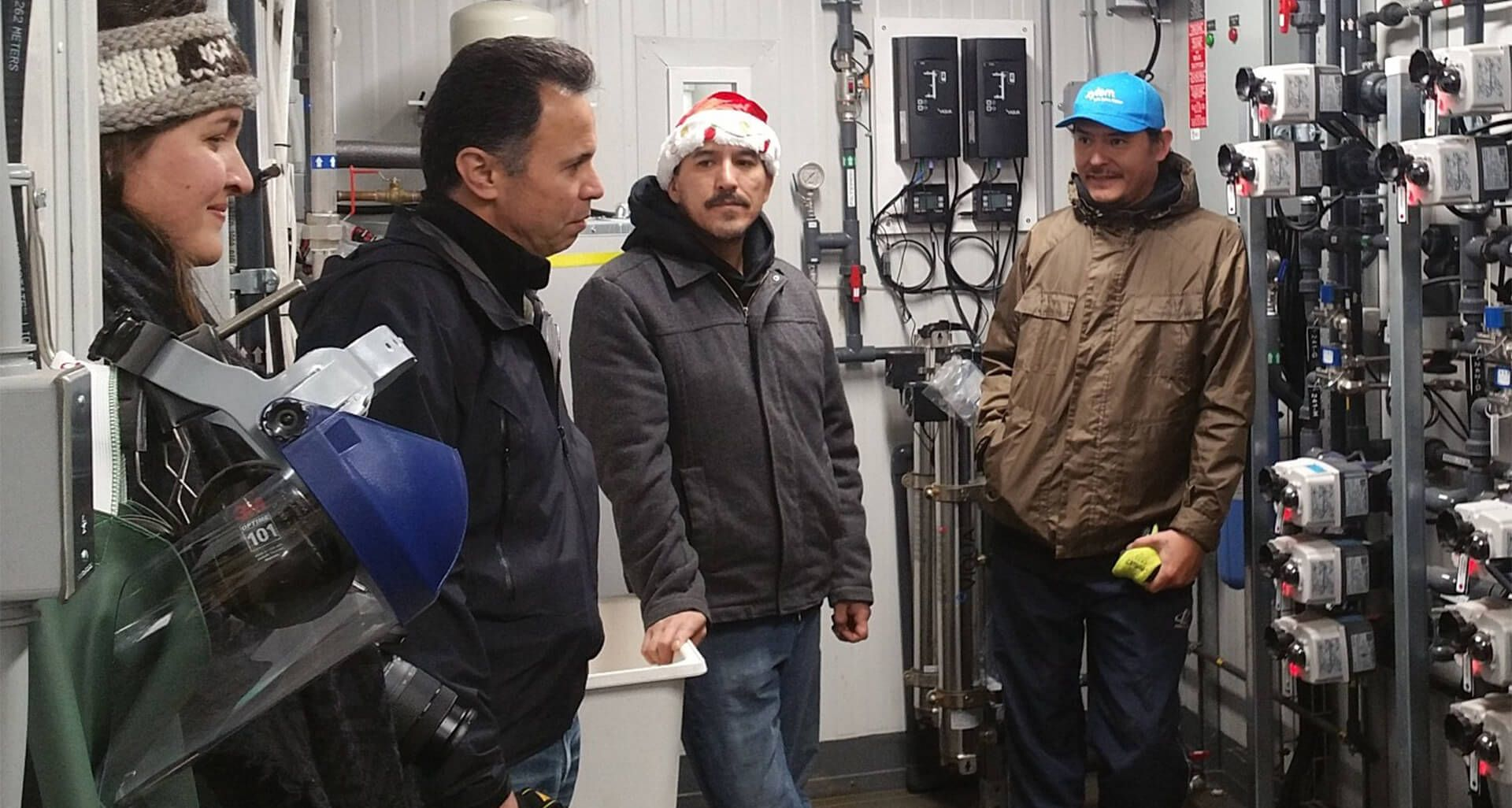 img-Collaboration inside of the new BIEX plant with Res-eau-WaterNET-Ti-azt-en Nation and CBC