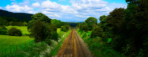 Green fields rail track