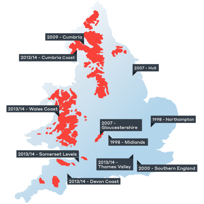 Flooding England Map.U K Infrastructure Can We Cope With Flooding Wsp