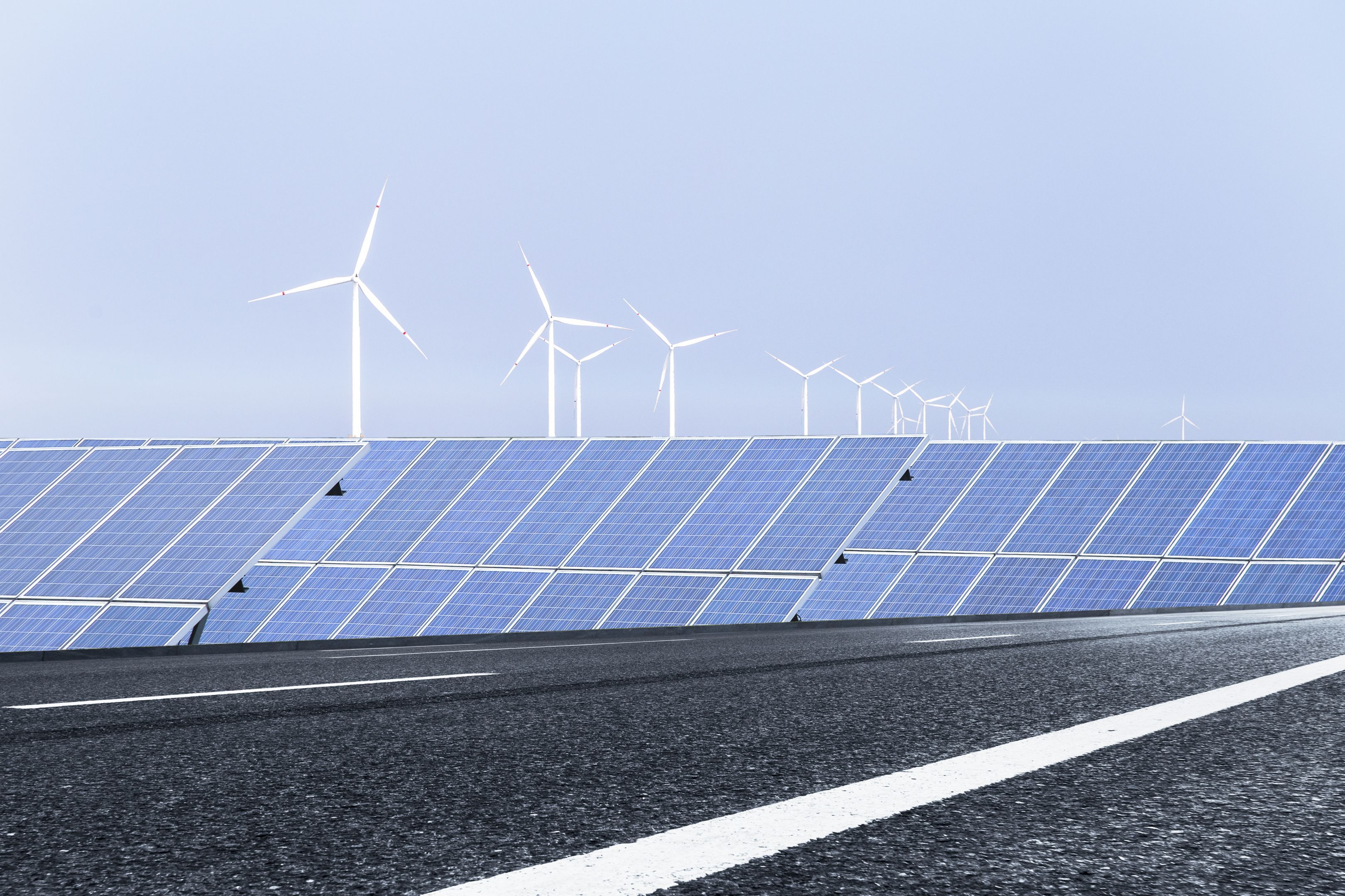 Solar and wind farm