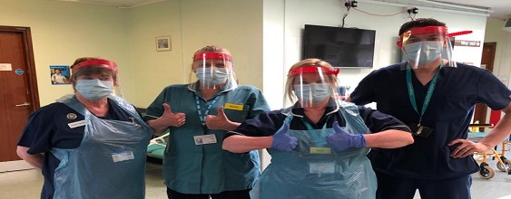 WSP face masks used by the NHS 563 x 220