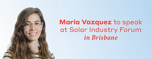 Maria Vazquez presents for WSP: Solar energy is expected to be a key technology underpinning a low emissions future.