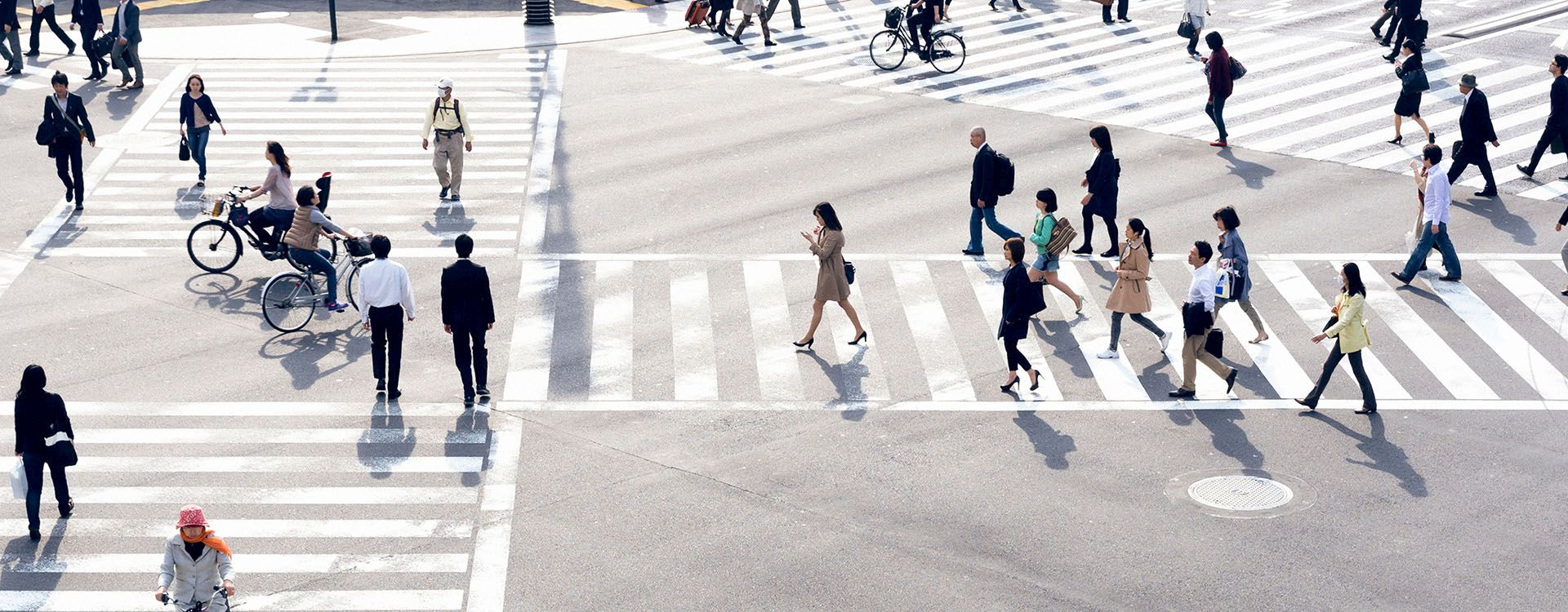 Busy Pedestrian Crossing Enabling Successful Journeys and Creating Great Places