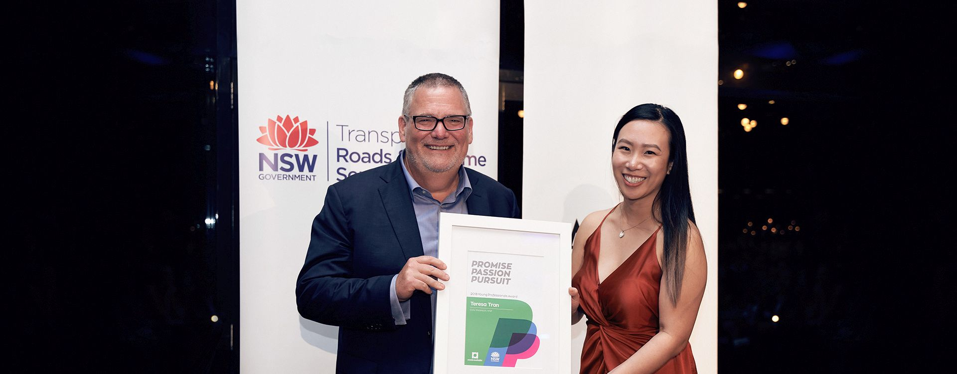 WSP's Teresa Tran, Civil Engineer in our Transport Infrastructure team, was named winner of the 2018 Roads Australia Young Professionals 'PPP' Award