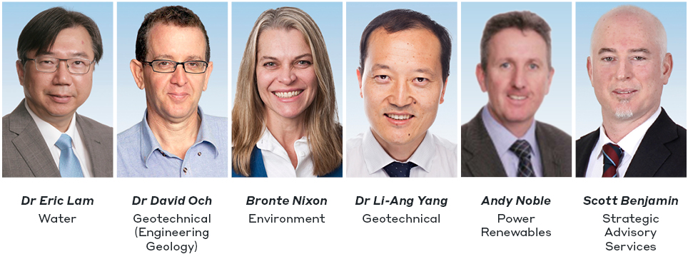 Dr. Eric Lam, Dr. David Och, Bronte Nixon, Dr. Li-Ang Yang, Andy Noble and Scott Benjamin
