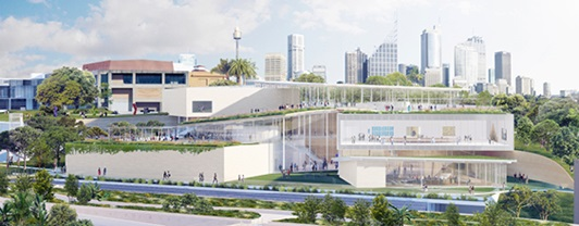 Artist impression for the Art Gallery of NSW expansion.