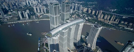 engineering raffles city aerial view
