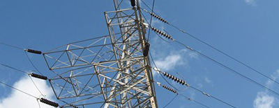 An overhead transmission line