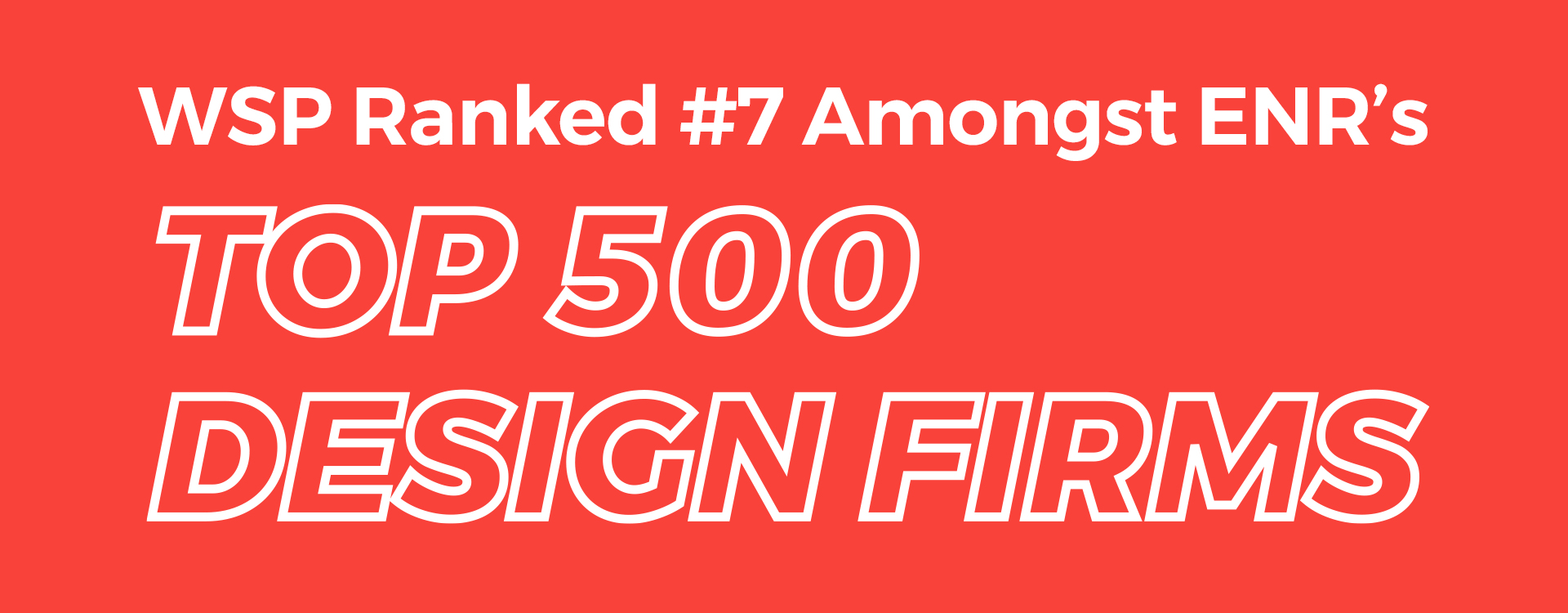 2020 Wsp Usa Enr Ranking Top 500 Design Wsp