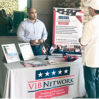 Veterans in Business Network was one of the participating groups at the event.