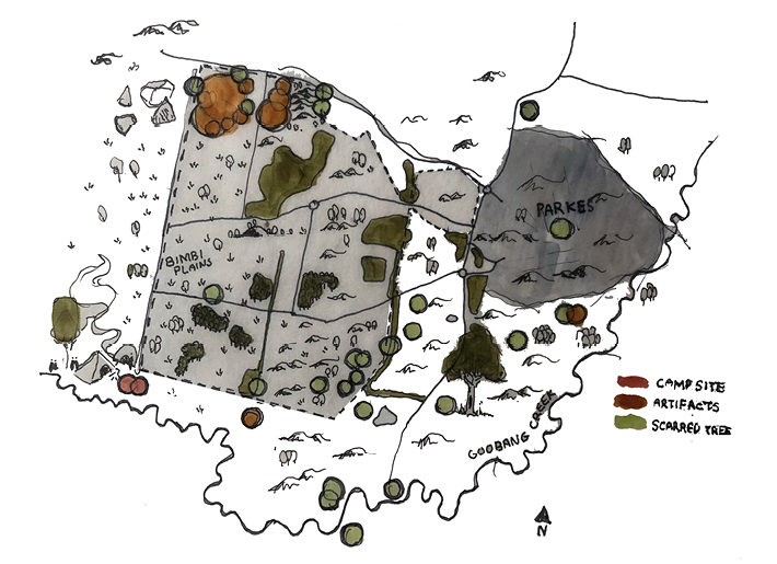 Wiradjuri sites graphic representation | WSP