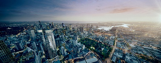 350 Queen Street, Melbourne - city skyline
