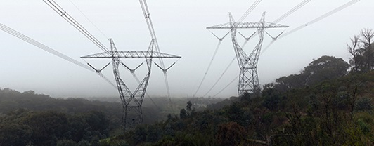 Integral Energy ( now Endeavour Energy) - transmission lines in the fog