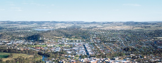 Aerial view of a New South Wales city, Australia | WSP