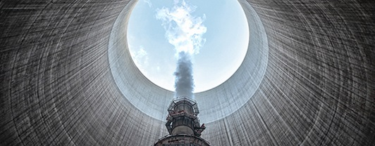 Inside the cooling tower - Stanwell Power Station