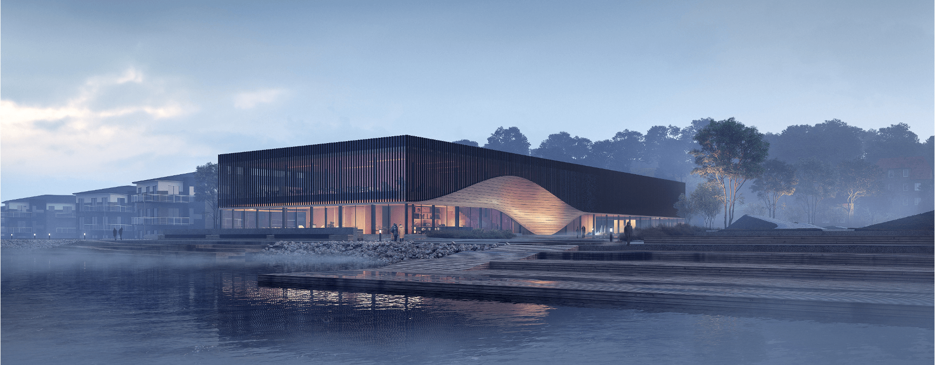 Facade of the new climatorium in Lemvig, Denmark | WSP