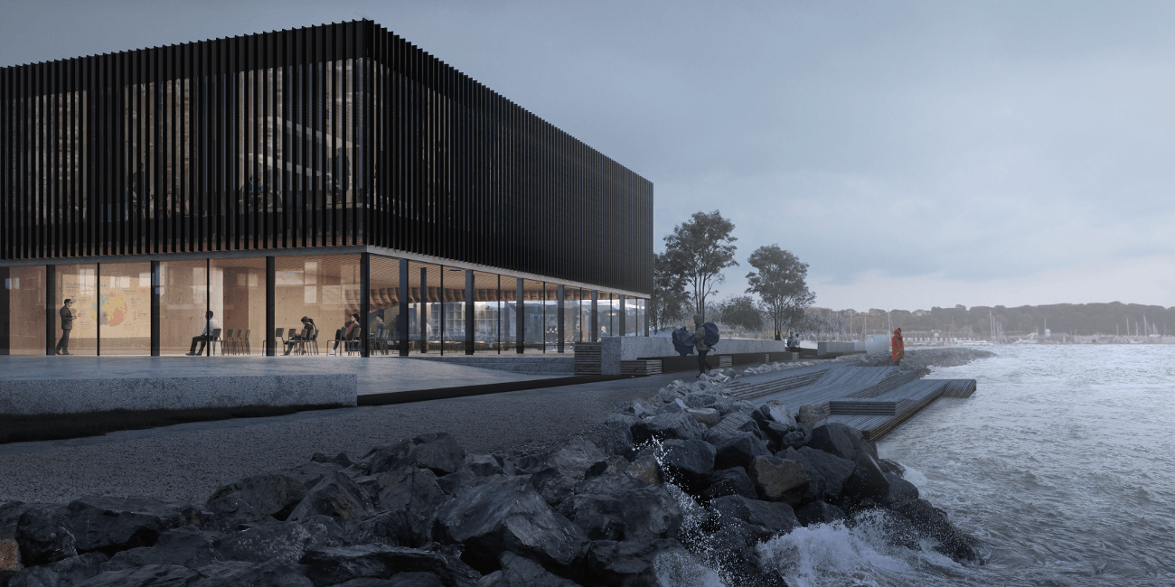 Coast-side facade of Lemvig's climatorium | WSP
