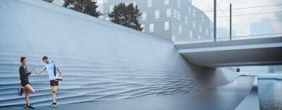 Atlantinsilta Bridge and its supporting walls, the new bridge in Ahdinallas, Helsinki. | WSP