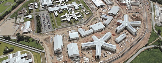 Engineering HM Prison Oakwood- aerial view