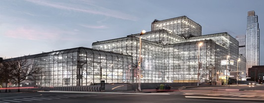 Engineering Jacobs Javits Convention Center- exterior view- façades