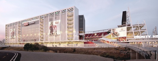 Engineering Levi's Stadium- interior view