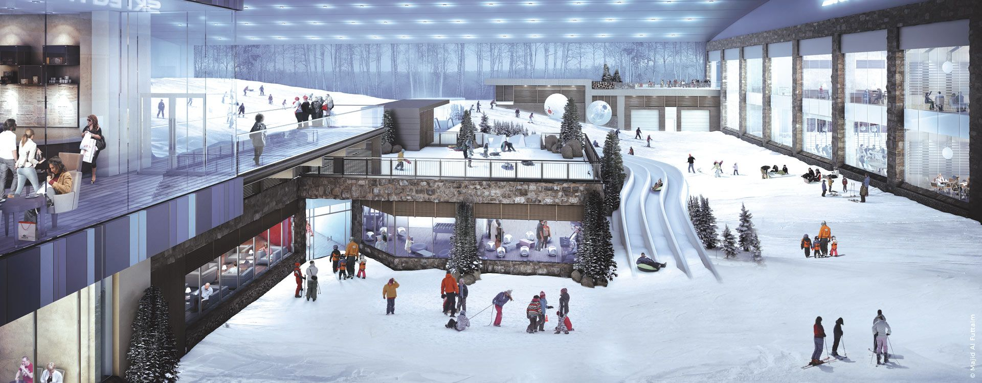 Engineering Mall of Egypt- interior view-ski slopes
