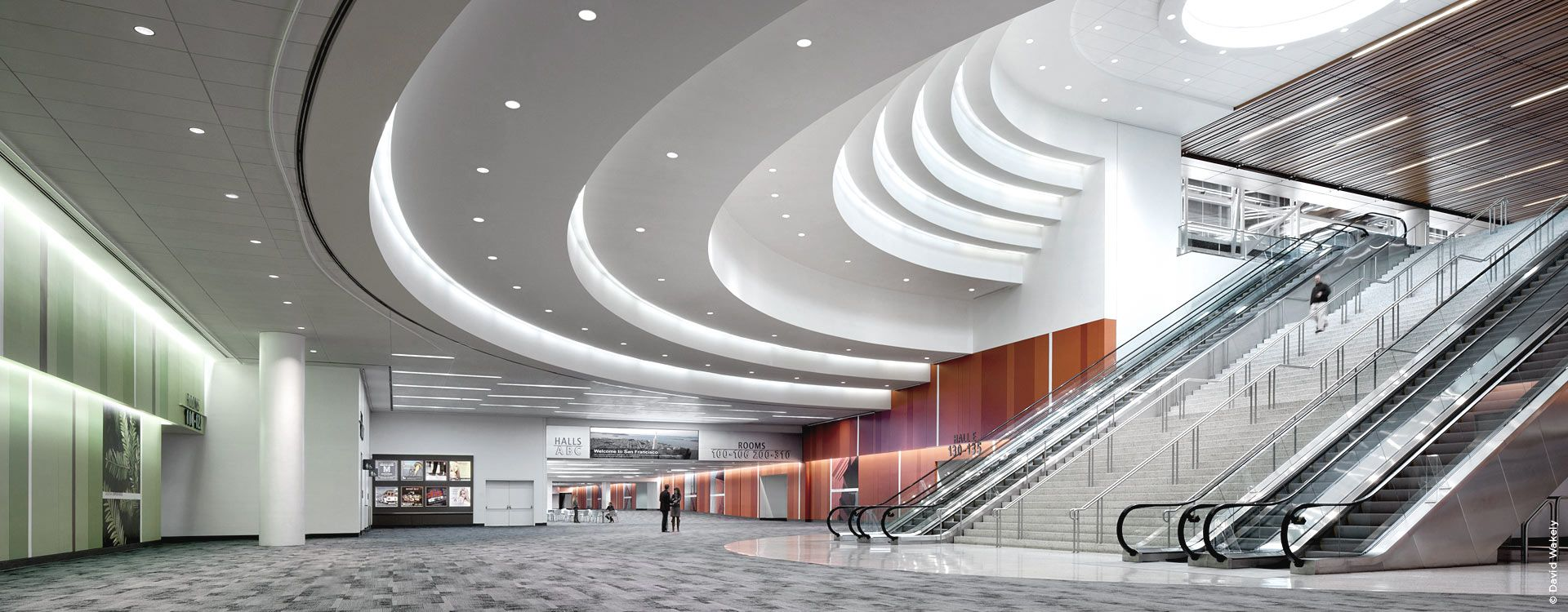 Engineering Moscone Convention Center- interior view