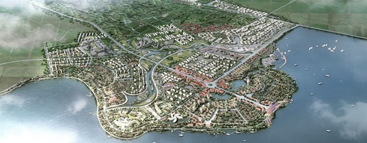 Rendu d'image du District de Pearl Water City