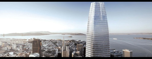 Engineering Salesforce Tower –Aerial view