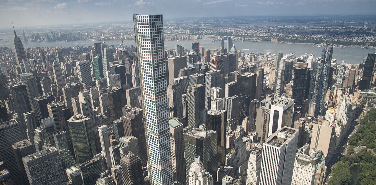 Engineering 432 Park Avenue- Aerial view