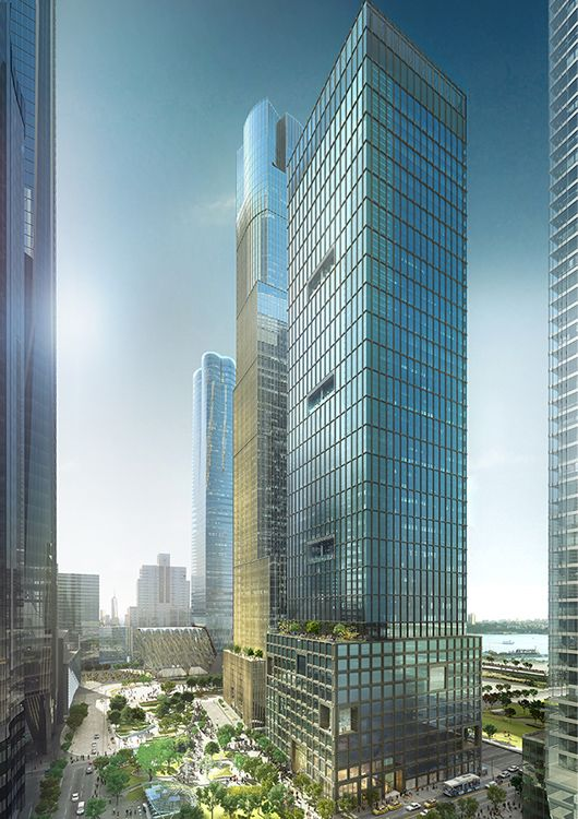 Engineering 55 Hudson Yards- Exterior View Façades