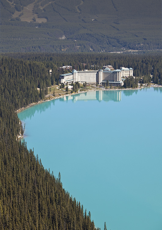 Engineering Fairmont Chateau Lake Louise- aerial view