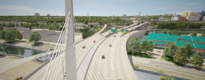 The Turcot interchange, roads and highways view from above, Montréal, Québec, Canada | WSP