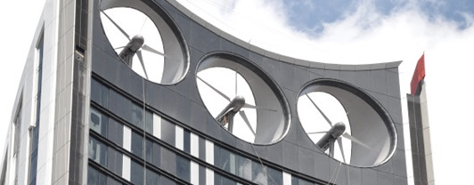Wind turbines at the top of the Strata SE1 High Rise, London | WSP