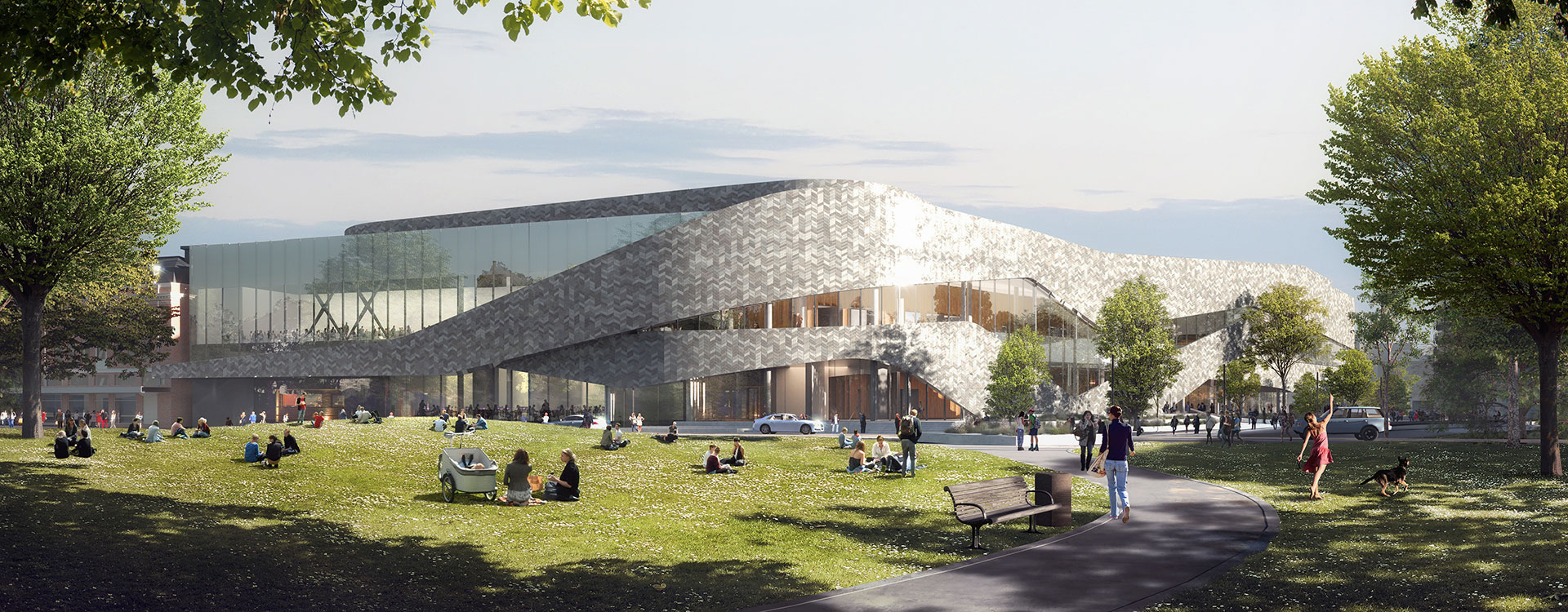 Visualisation of the Christchurch Convention Centre lobby area. | WSP