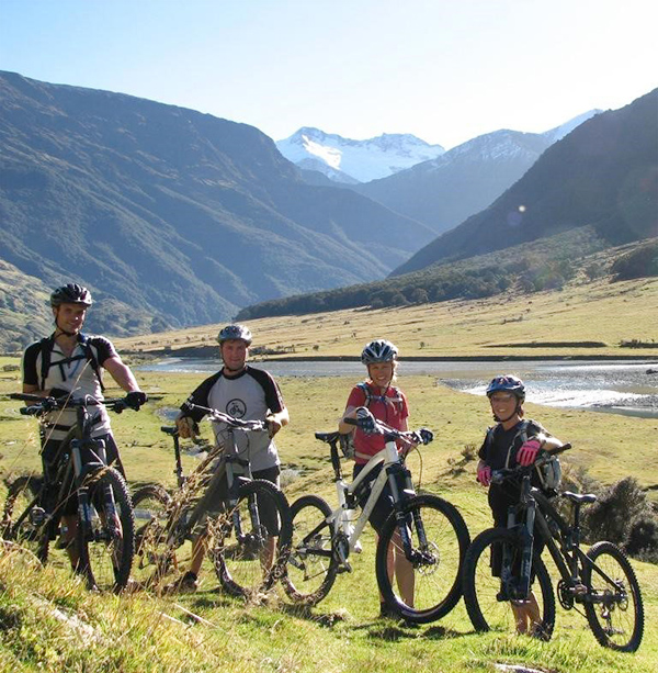 Some of the mountain bikers at the Nelson Club