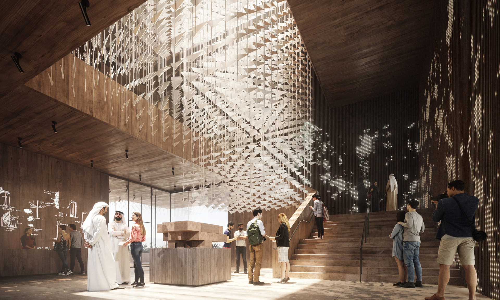 Visualization of the Polish pavilion, the main attraction at the 2020 World Expo in Dubai | WSP