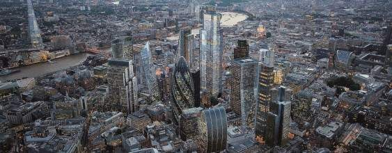 Aerial view of 22 Bishopsgate and vicinity | WSP Project