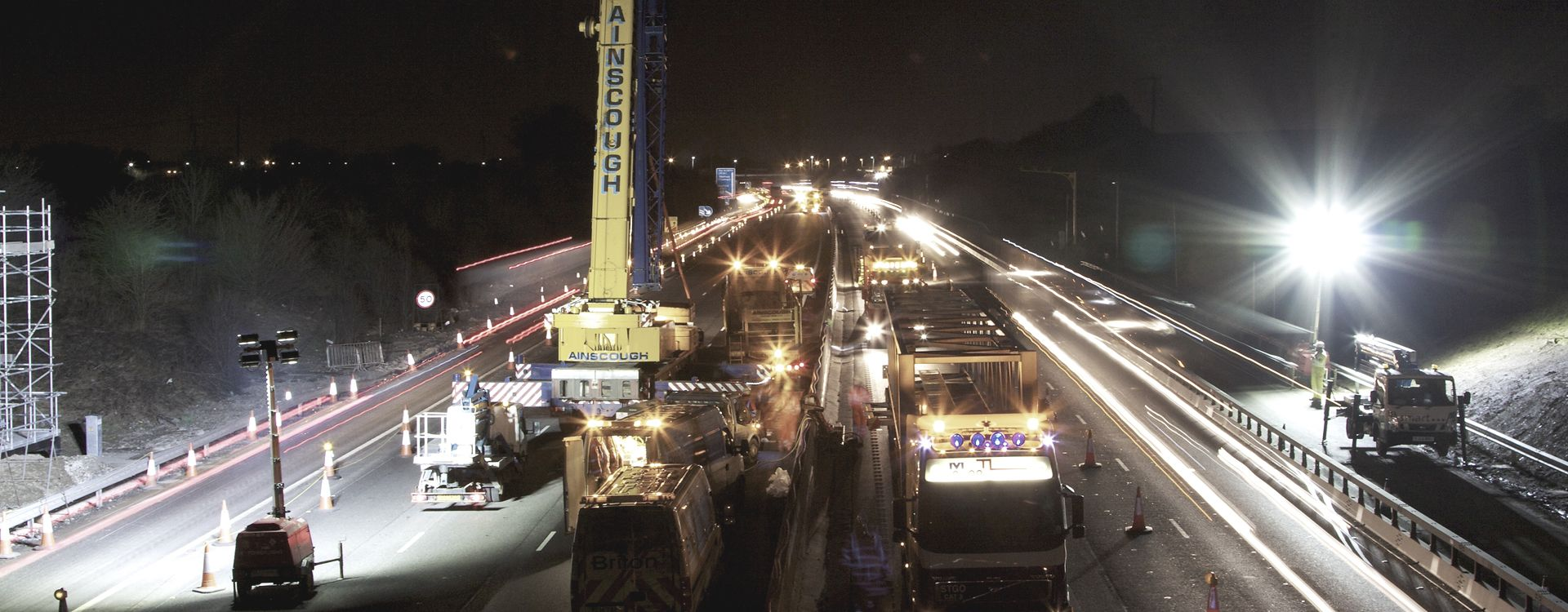 We successfully delivered the 20 mile stretch of smart motorway alongside Highways England and Costain.