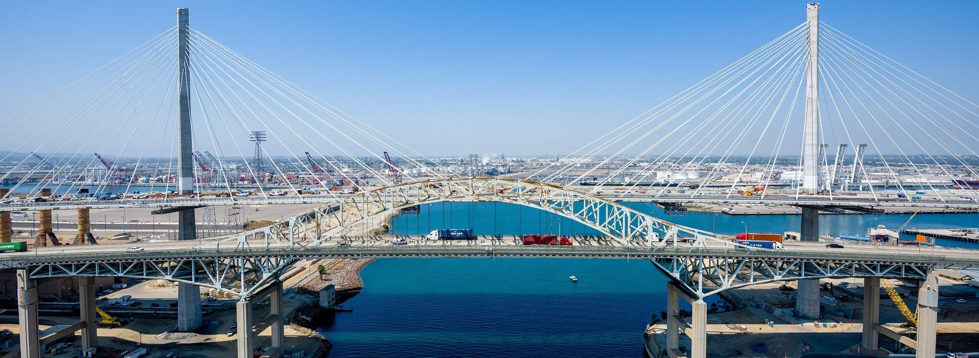 Gerald Desmond bridge in Long Beach, California, USA | WSP Project