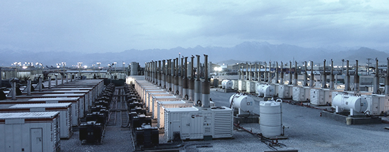 Field of generators that make up the bagram 30mw power plant built by WSP