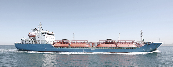 Large Liquid Natural Gas (LNG) vessel at sea