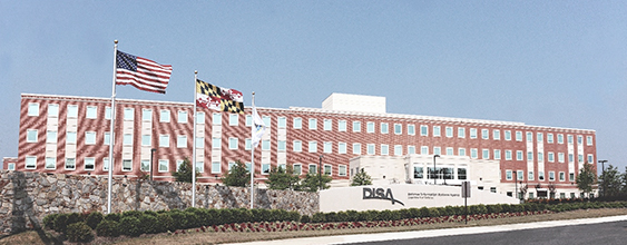 Defense Information Systems Agency (DISA) building in Fort Meade, MD. Fort