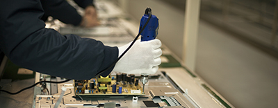Fixing a circuit board as part of a hazmat audit
