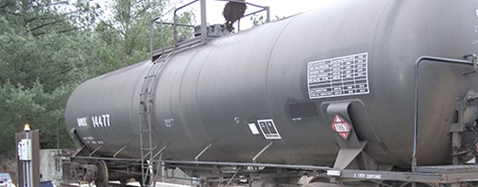 Fuel tank train car used at Fort Bragg for aviation fuel storage