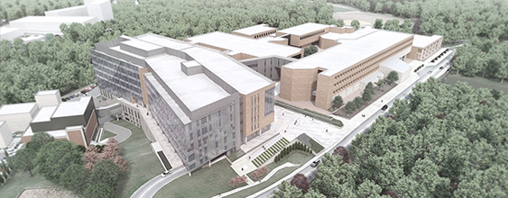 Artist rendering of uniformed services university of health sciences campus designed by WSP